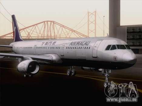 Airbus A321 Air Macau für GTA San Andreas zurück linke Ansicht