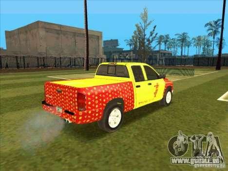 Tej Dodge RAM 2 Fast 2 Furious pour GTA San Andreas vue de droite
