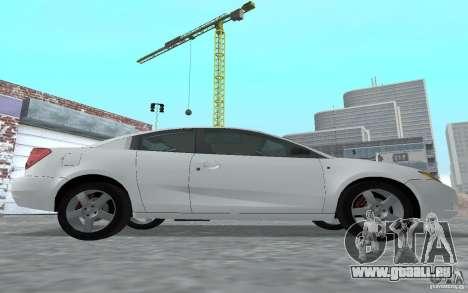 Saturn Ion Quad Coupe pour GTA San Andreas sur la vue arrière gauche