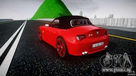 BMW Z4 Roadster 2007 i3.0 Final pour GTA 4 Vue arrière de la gauche