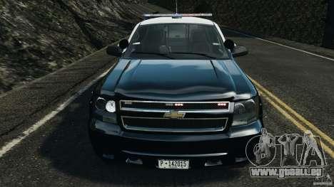 Chevrolet Tahoe Marked Unit [ELS] pour GTA 4 est une vue de l'intérieur