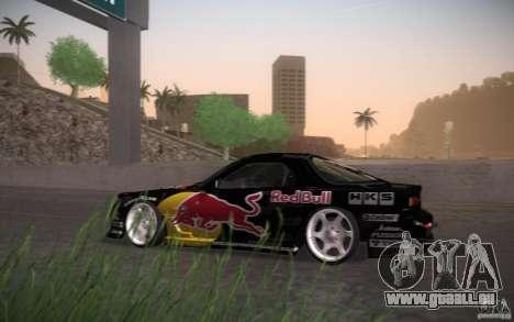 Mazda RX7 Madmikes Redbull pour GTA San Andreas sur la vue arrière gauche