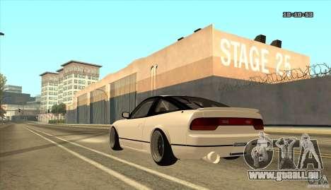 Nissan Sil180 JDM pour GTA San Andreas laissé vue