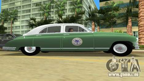 Packard Standard Eight Touring Sedan Police 1948 für GTA Vice City Rückansicht