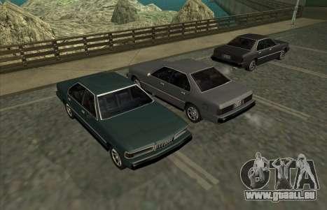 New Sentinel für GTA San Andreas zurück linke Ansicht