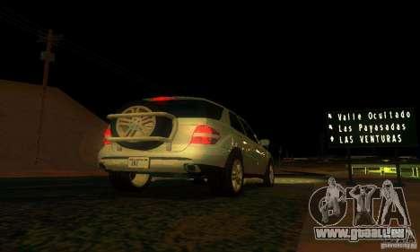 Mercedes-Benz ML500 pour GTA San Andreas vue de dessus