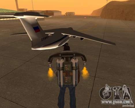 Die IL-76 für GTA San Andreas zurück linke Ansicht