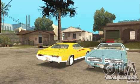 Pontiac GTO The Judge pour GTA San Andreas vue intérieure