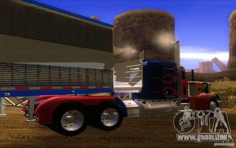 Truck Optimus Prime v2.0 pour GTA San Andreas vue de droite