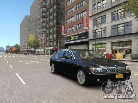 BMW 7 Series E66 2011 pour GTA 4 vue de dessus