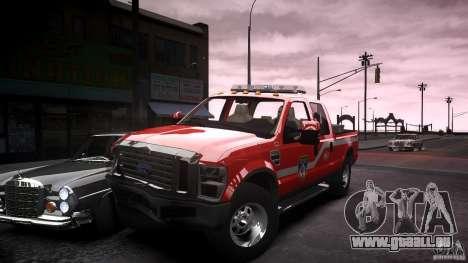 Ford Chief F250 pour GTA 4 vue de dessus