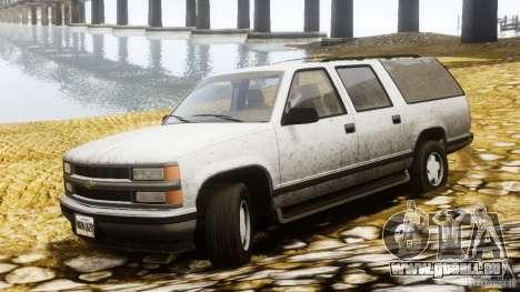 Chevrolet Suburban GMT400 v1.1 pour GTA 4 est une gauche
