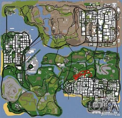 Construction de nouvelles routes en Vinewoode (L pour GTA San Andreas quatrième écran