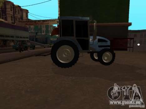Tracteur МТЗ 922 pour GTA San Andreas sur la vue arrière gauche