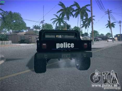 Hummer H1 1986 Police für GTA San Andreas zurück linke Ansicht