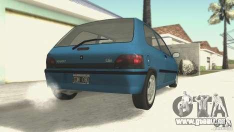 Renault Clio RL 1996 pour GTA San Andreas vue de droite