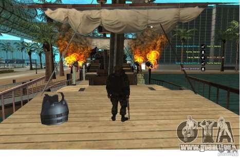Les Forces spéciales Berkrut pour GTA San Andreas deuxième écran