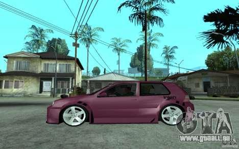 Volkswagen Golf GTI 4 Tuning pour GTA San Andreas laissé vue
