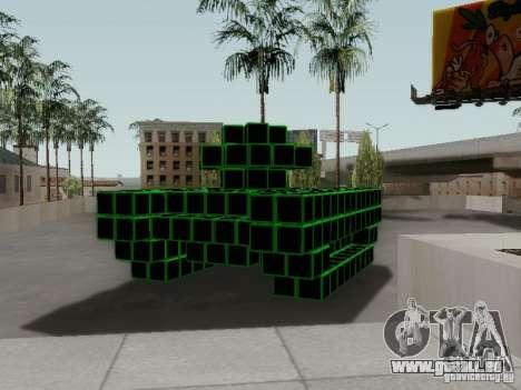 Pixel Tank pour GTA San Andreas vue de droite