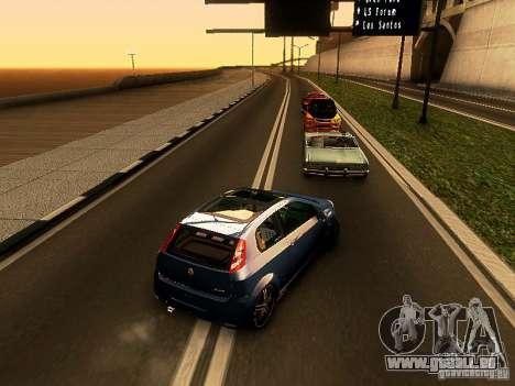 Fiat Punto Multijet für GTA San Andreas zurück linke Ansicht