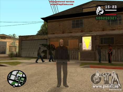 CJ ghost 1 VERSION pour GTA San Andreas