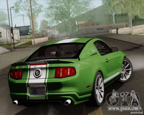 Ford Shelby GT500 Super Snake 2011 pour GTA San Andreas vue intérieure