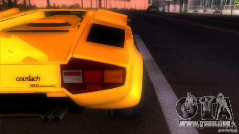 Lamborghini Countach für GTA Vice City Rückansicht