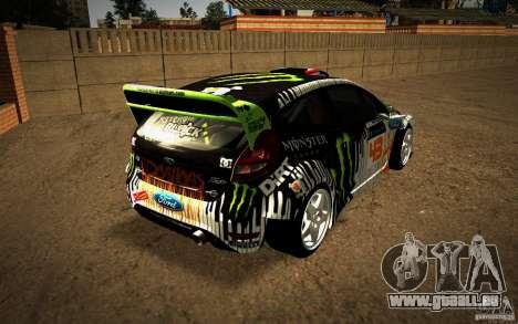Ford Fiesta Gymkhana Four für GTA San Andreas rechten Ansicht