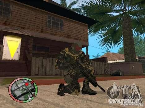 Collection d'armes de Crysis 2 pour GTA San Andreas deuxième écran