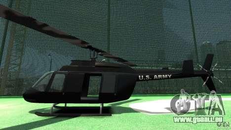 Black U.S. ARMY Helicopter v0.2 für GTA 4 hinten links Ansicht