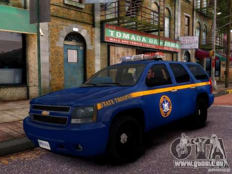 Chevrolet Tahoe New York Police für GTA 4 Seitenansicht