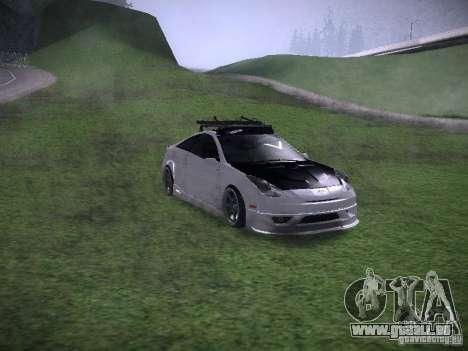 Toyota Celica für GTA San Andreas Rückansicht