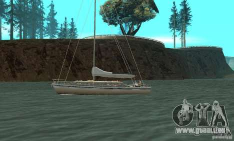Marquis Segelyacht 09 Textures für GTA San Andreas linke Ansicht