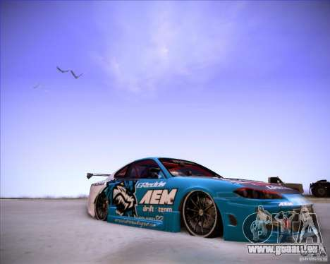 Nissan Silvia S15 Blue Tiger pour GTA San Andreas vue de droite