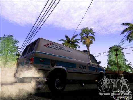 Chevrolet VAN G20 NYPD SWAT für GTA San Andreas Rückansicht