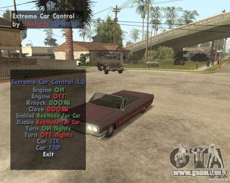 Extreme Car Mod (Single Player) pour GTA San Andreas deuxième écran