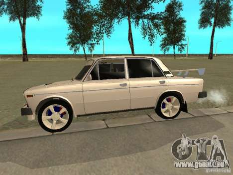 VAZ 2106 West Style pour GTA San Andreas sur la vue arrière gauche