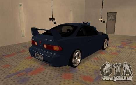 Acura Integra Type R 2000 pour GTA San Andreas sur la vue arrière gauche