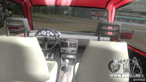 Fiat Uno Turbo für GTA Vice City rechten Ansicht