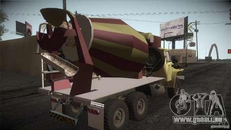 Ural 4320-Betonmischer für GTA San Andreas rechten Ansicht