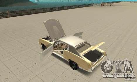 Chevy Monte Carlo [F&F3] für GTA San Andreas Innenansicht