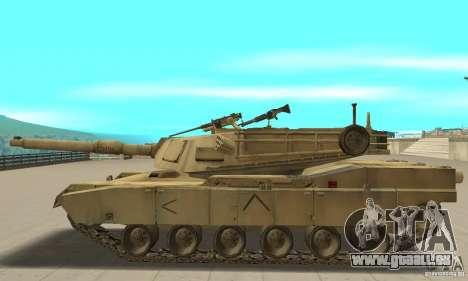 Tank M1A2 Abrams für GTA San Andreas linke Ansicht
