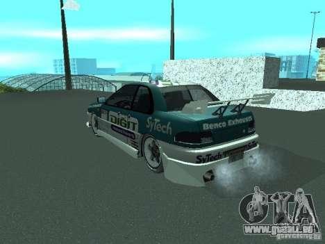 Subaru Impreza für GTA San Andreas Unteransicht