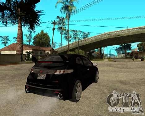 2009 Honda Civic Type R Mugen Tuning für GTA San Andreas zurück linke Ansicht
