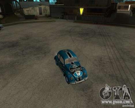 VW Fusca Gremio pour GTA San Andreas laissé vue