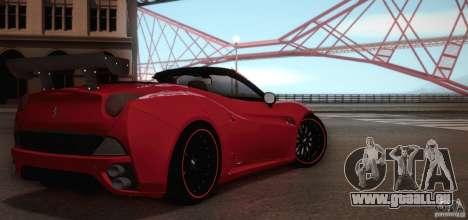 Ferrari California für GTA San Andreas obere Ansicht