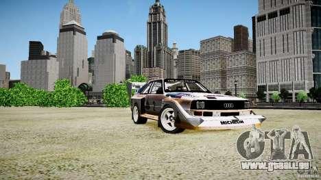 Audi Quattro S1 Team Sport 1982 pour GTA 4 est une gauche