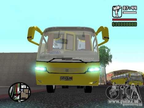 Busscar Vissta Bus für GTA San Andreas Innenansicht