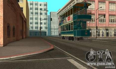 Double Decker Tram pour GTA San Andreas laissé vue