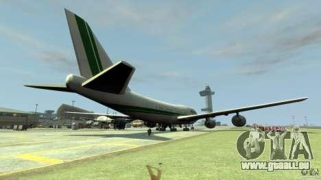 Alitalia pour GTA 4 Vue arrière de la gauche
